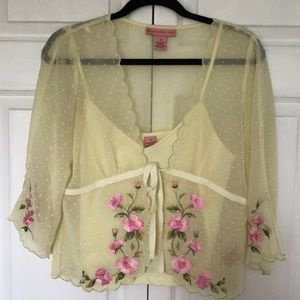 Blouse with cami
